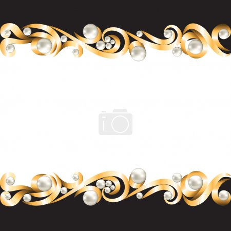 Illustration for Background with gold jewelry frame - Royalty Free Image