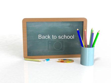 Photo pour Retour à l'école 3d render - image libre de droit