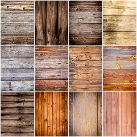 Collection of wood texture backgrounds