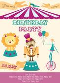Circus Happy Birthday card