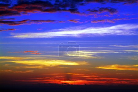 Photo for Colorful sunset over ocean. - Royalty Free Image