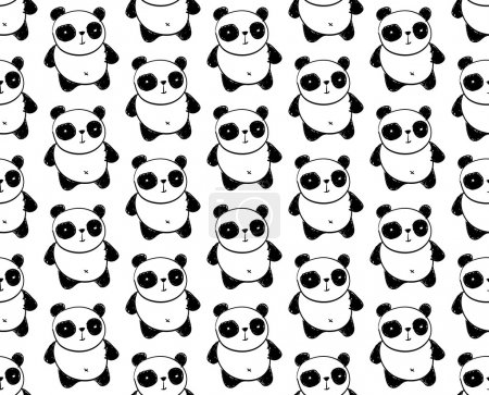 Illustration for Panda Pattern - Royalty Free Image
