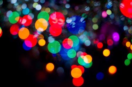 Photo pour Noël fond abstrait. Guirlande de Noël lumières - image libre de droit