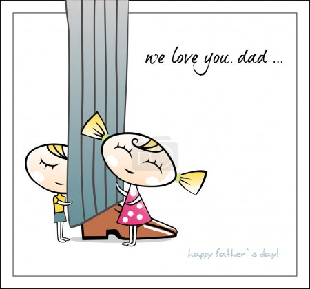 Illustration for Happy Fathers day. Vector - Royalty Free Image
