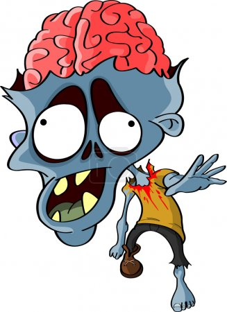 Cartoon reanimated zombie