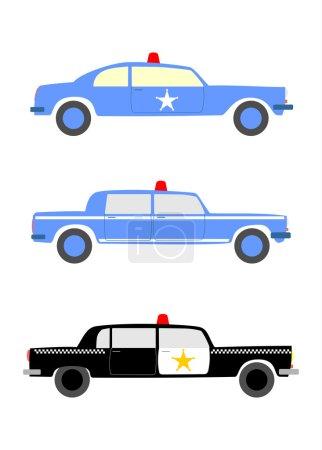 Police car set.
