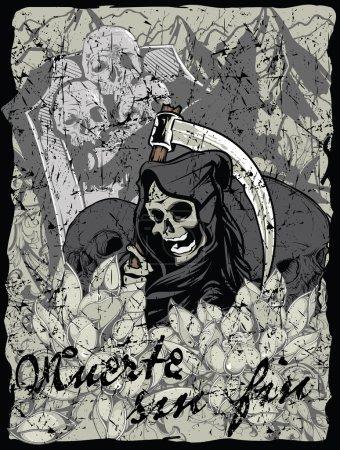 Illustration for Muerte sin fin - Royalty Free Image