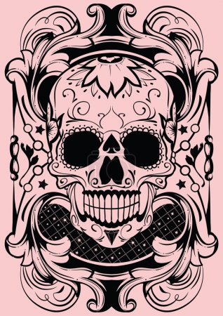 Illustration for Floral skull - Royalty Free Image