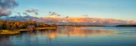 Photo for Autumn sunset at the Balticsea coastline - Royalty Free Image