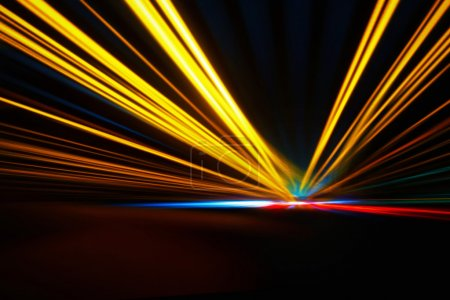 Photo pour Accélération nocturne abstraite vitesse de mouvement - image libre de droit