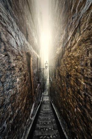 Dark an gloomy alley