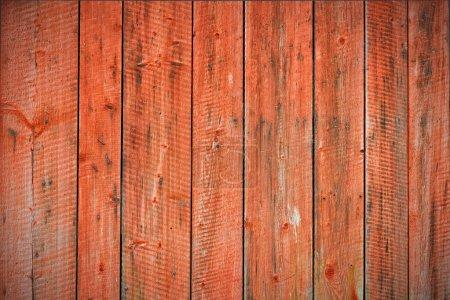 Red worn planks background