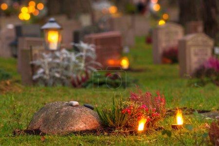 Graveyard at evening