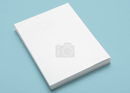 Empty Blank White Book Cover...