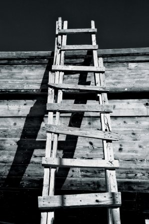 Grungy Ladder and Shadows