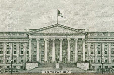 Photo pour Dessin des billets du département du Trésor américain Washington DC - image libre de droit