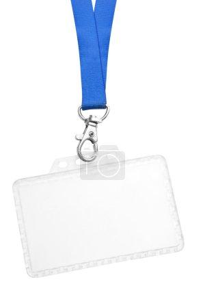 Photo pour Étiquette de nom d'id vide isolé sur fond blanc - image libre de droit