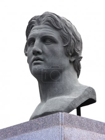 Alexander the Great Statue over White...