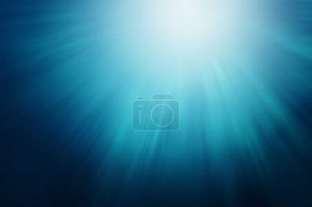 Photo for Abstract Blue Sun Lights Under Water - Royalty Free Image