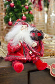 Awesome Christmas and new year decoration with red Santa Claus s