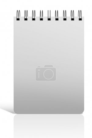 Spiral notebook cover on isolated white background