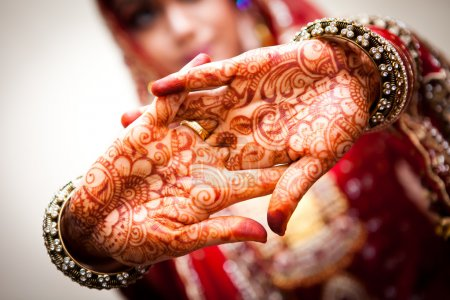 Photo for Indian Hena Painting - Royalty Free Image