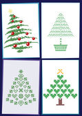 Collection of Christmas trees 01