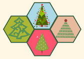 Collection of Christmas trees 03