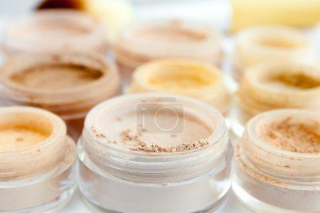 Mineral make-up, powder, blush, eye shadows