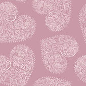 Ornamental hearts seamless pattern vector added to swatches