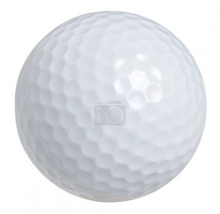 A golf ball isolated on a white background with clipping path