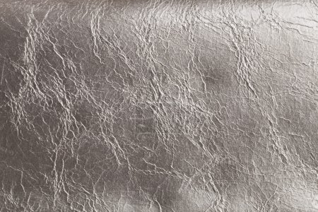 Silver imitation leather texture background