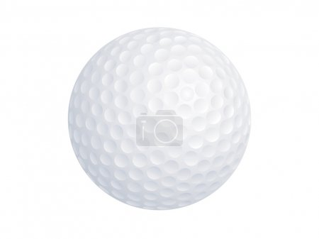 Vector image of a golf ball isolated on white