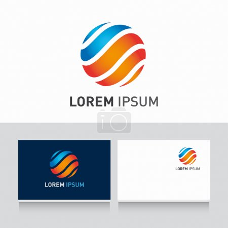 Illustration for Vector trendy logo colorful and business card template - Royalty Free Image