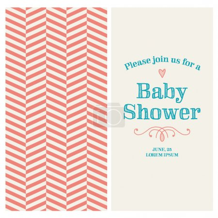 Baby shower invitation card editable with vintage ...
