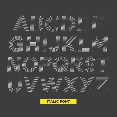 Illustration pour Typographie type police rayures vectoriel illustration rétro vintage - image libre de droit