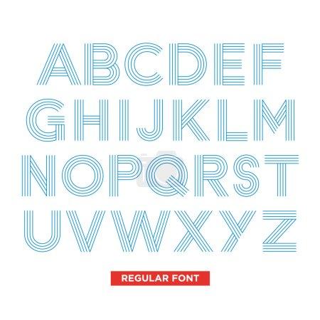 typography type font stripes vector illustration retro vintage