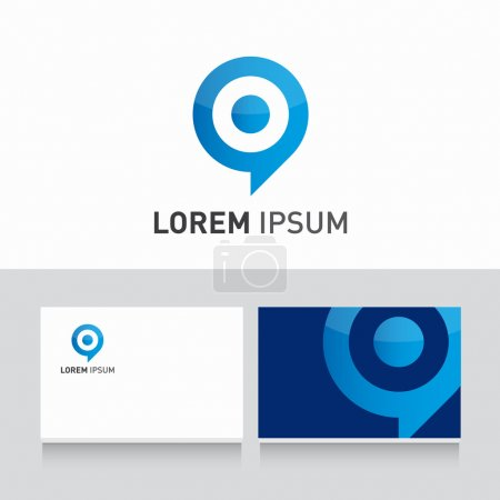 Business card company template with logo design