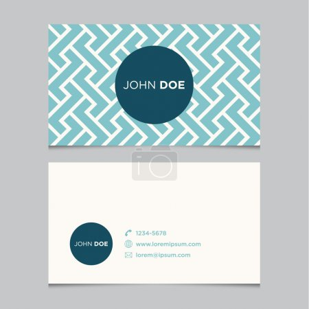 Illustration for Business card template pattern, vector design editable - Royalty Free Image