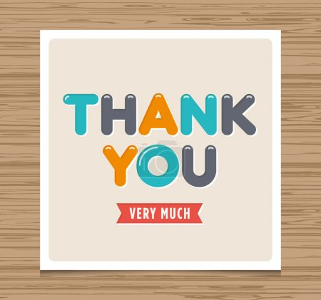 Illustration for Thank you card, balloons type font vector design - Royalty Free Image