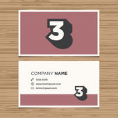 Business card with number Vector template editable Vintage design