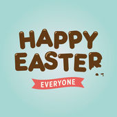 Happy easter card chocolate letters