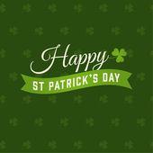 Happy Saint Patricks day card clover vector background