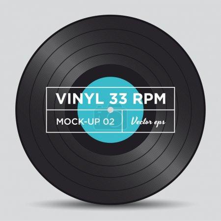 Vinyl record 33 RPM mock up