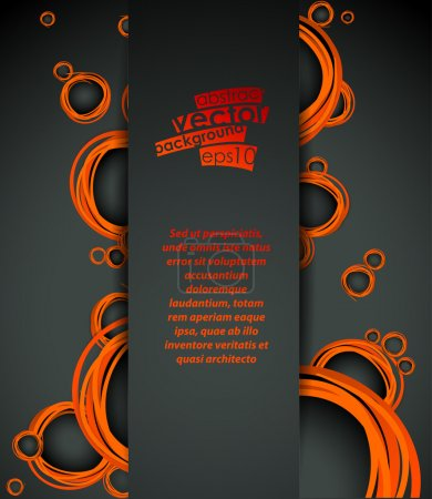 Vector abstract background with orange bubbles ele...