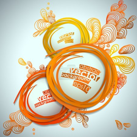 Illustration for Abstract bubble vector illustration background. - Royalty Free Image