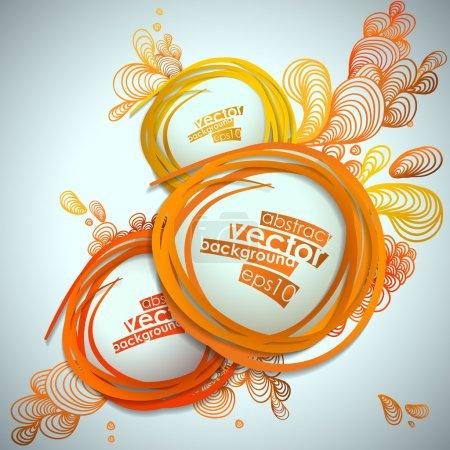Illustration pour Illustration vectorielle abstraite à bulles . - image libre de droit