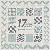 A set of 17 perfectly seamless retro patterns Vector