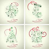 Set of 4 winter holidays cards