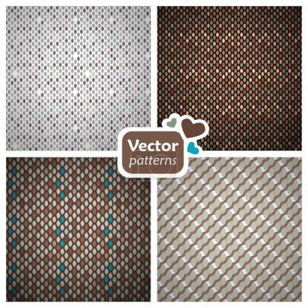 4 seamless stylish patterns.